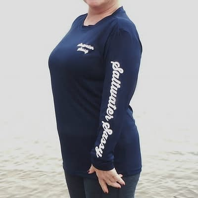 Reel Hot Mess Crew LS Navy